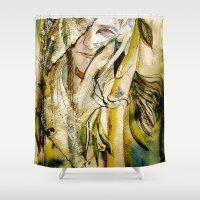 bleach Shower Curtains featuring Golden Collar by CrismanArt