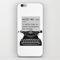 writer iPhone & iPod Skins featuring Writer Defined by Nicole Austin