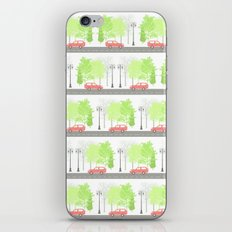 Cars and trees iPhone & iPod Skin