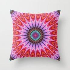 Quadrant mandala Throw Pillow