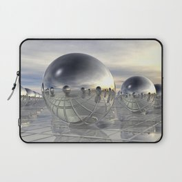 Reflecting 3D Spheres Laptop Sleeve
