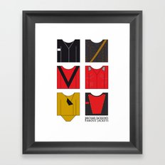 Michael's famous jackets Framed Art Print