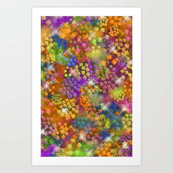 Stained Glass look Series 4 Art Print