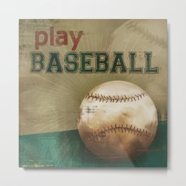 play baseball Metal Print