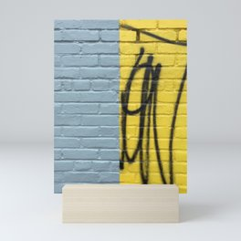 Halved Brick Wall Mini Art Print