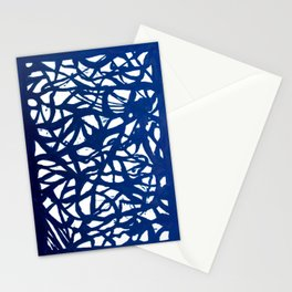 Blue Squiggles Stationery Cards