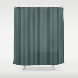 Night Watch Color of the Year PPG1145-7 Thick and Thin Vertical Stripes on Juniper Berry Green Shower Curtain