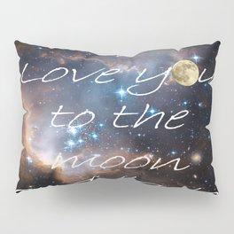 Contemporary I Love You to the Moon Stars Bedroom Decor Art A521 Pillow Sham