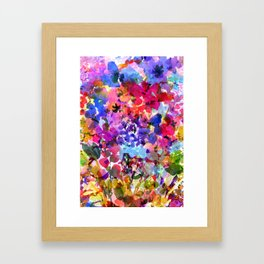 Jelly Bean Wildflowers Framed Art Print