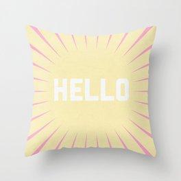 Hello Summer Throw Pillow