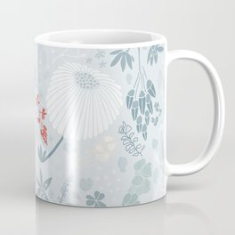 Field of Flowers on Blue Coffee Mug