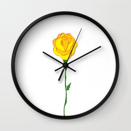The Friendship Rose Wall Clock