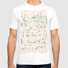 maze with eyes White MEDIUM Mens Fitted Tee