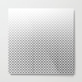 SEAMLESS BLACK AND WHITE Metal Print