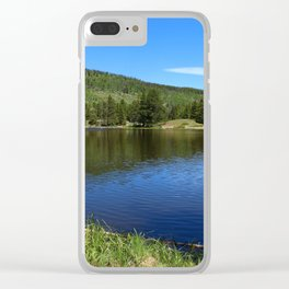 Blue Tones of Sprague Lake Clear iPhone Case