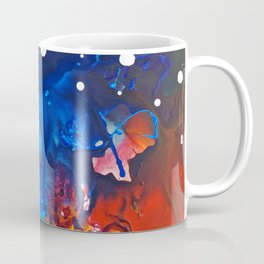 Humo, Vibrant wet on wet abstract, NYC artist Coffee Mug