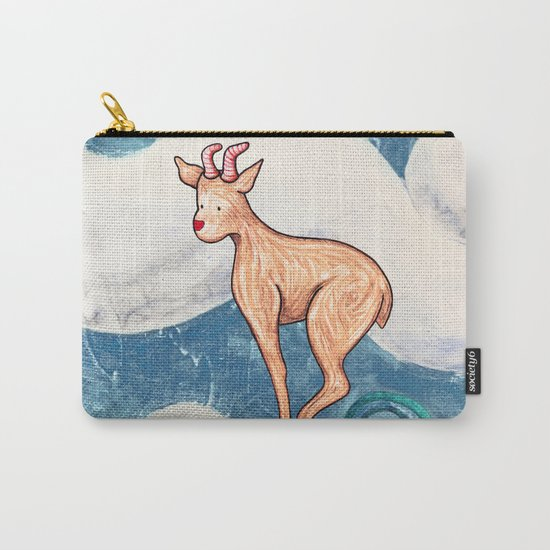 Winter Goat Carry-All Pouch