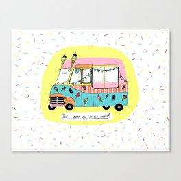 The best car in the world. Ice-cream van Canvas Print