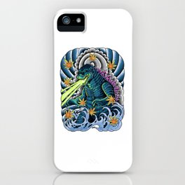 king of monster japanese tattoo iPhone Case