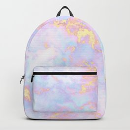 Unicorn Rainbow Marble Pattern Backpack