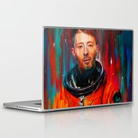 radiohead Laptop & iPad Skins featuring Thom Yorke by nicebleed