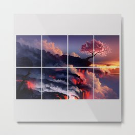The Earth Cherry Blossom Metal Print