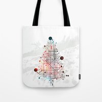 christmas tree Tote Bags featuring Christmas Tree by ARCHIGRAF