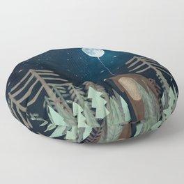 the moon balloon Floor Pillow