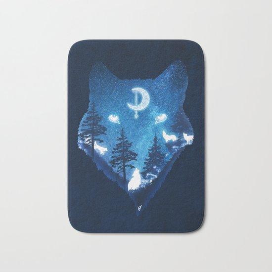 Moon Wolves Bath Mat