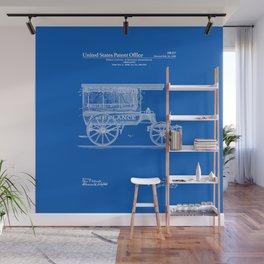 Ambulance Patent - Blueprint Wall Mural