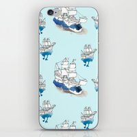 ships iPhone & iPod Skins featuring Ships Pattern by Brooke Weeber