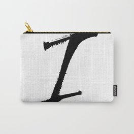 Letter I Ink Monogram Carry-All Pouch