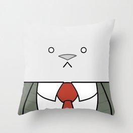 Business Cat Cube Throw Pillow