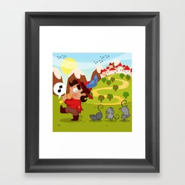 The Pied Piper of Hamelin  Framed Art Print
