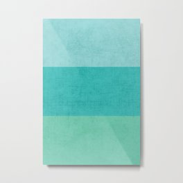 three stripes - teal Metal Print