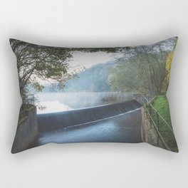 deep hayes country park waterfall Rectangular Pillow