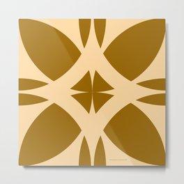 Abstract Flower Diamond - Desert Metal Print