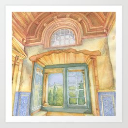 Tomar window Art Print