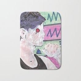 Milk Android Justin Consults Schrödinger's Love Triangle Bath Mat