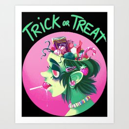 Trick or Treat - Candy Brain Art Print