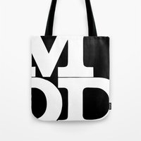 mod Tote Bags featuring mod by bobbybard
