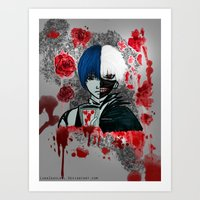 tokyo ghoul Art Prints featuring Tokyo Ghoul by Lunah