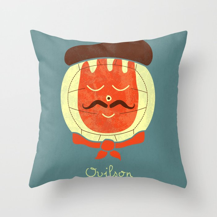 French Companion Throw Pillow