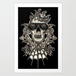 Brown Skully  Art Print