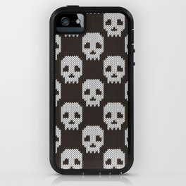 Knitted skull pattern iPhone Case