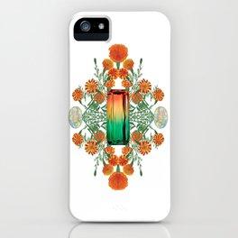 Birth Stone & Flower/OCTOBER iPhone Case