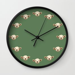 Sweet Lamb in the Barnyard Wall Clock