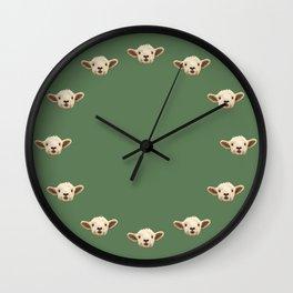 Sweet Lamb in the Barnyard Wall Clock