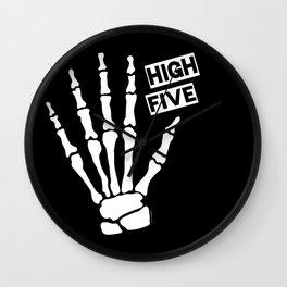 Skeleton High Five Wall Clock