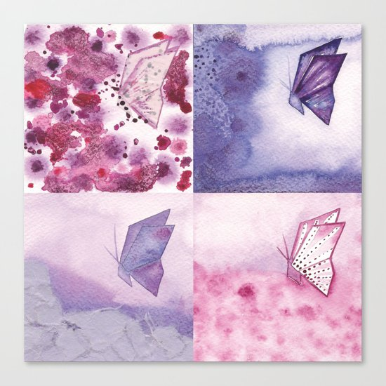 4 Butterflies Canvas Print